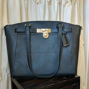 Hamilton Traveler Zip Leather Satchel